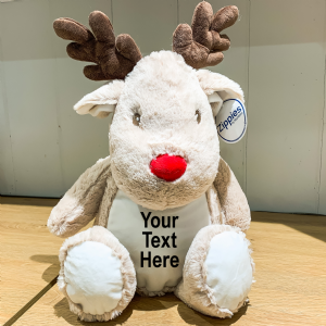 Personalised Reindeer Christmas Teddy